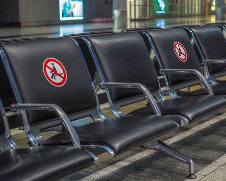 corona-zetels-luchthaven